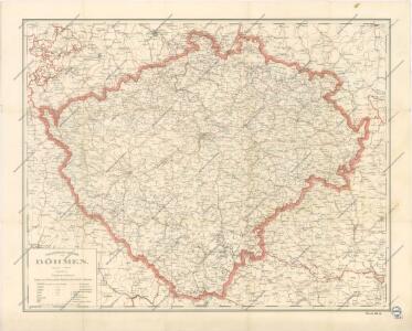 Topographische Landkarte von Böhmen
