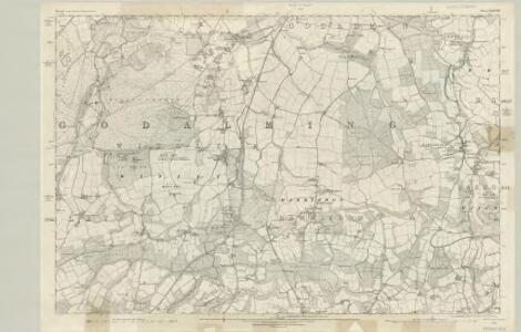 Surrey XXXVIII - OS Six-Inch Map