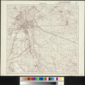 Meßtischblatt 4452 : Spremberg, 1940 Spremberg