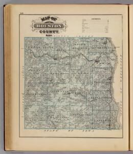 Map of Houston County, Minn.