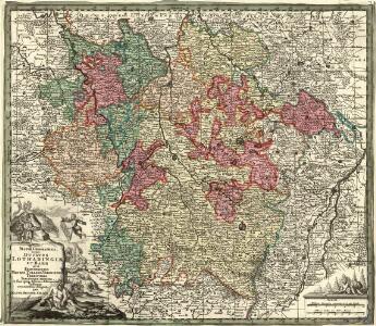 Mappa Geographica, in qua Ducatus Lotharingiae et Barr ut et Episcopatuum Metens. Tullens. Verdunens. Territoria, Tractusque Finitismi in suos quiq; ditiones disterminati sistuntur