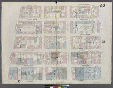 Plate 22: Map bounded by Spring Street, Broadway, Canal Street, Thompson Street