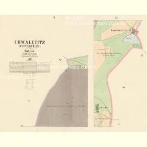 Chwaletitz (Chwaletice) - c2688-1-001 - Kaiserpflichtexemplar der Landkarten des stabilen Katasters