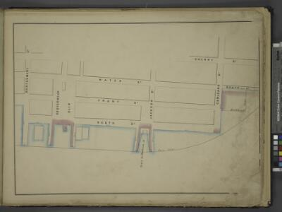 [Map bounded by Cherry St, Corlears St, Pier - Line,  Montgomery St; Including Water St, Front St, South St, Gouverneur Slip, Ferry to Hudson Av, Jackson St]