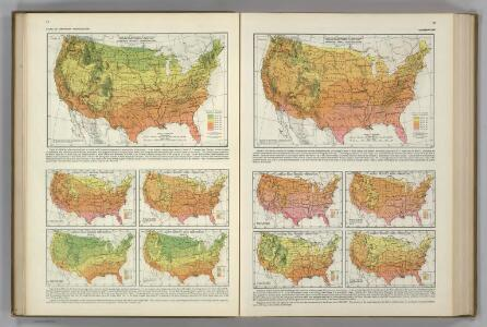Monthly Temperature Maps:  March.  April.  Atlas of American Agriculture.