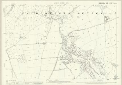 Cardiganshire XXXVII.12 (includes: Bridell; Cardigan; Llantwyd; Monington; St Dogmaels) - 25 Inch Map