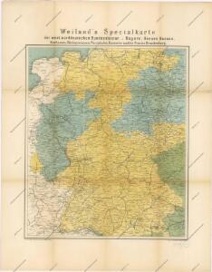 Special-Karte der west-norddeutschen Bundesstaaten