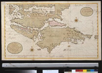 Het zuijdelijkste deel van America vertoonende de Straet Magellanus, de Straat La Maire en Caap de Hoorn in 't groot