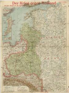 Paasche's Frontenkarte, Nr.4. Der Krieg gegen Russland