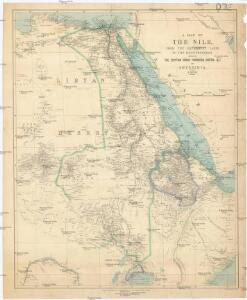 A map of the Nile, from the equatorial lakes to the Mediterranean
