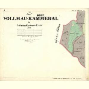 Vollmau Ober - c2039-1-001 - Kaiserpflichtexemplar der Landkarten des stabilen Katasters