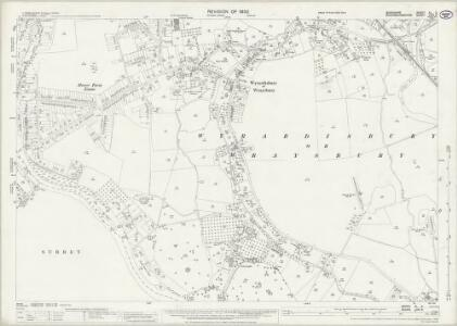 Buckinghamshire LVIII.3 (includes: Egham; Wyrardisbury) - 25 Inch Map