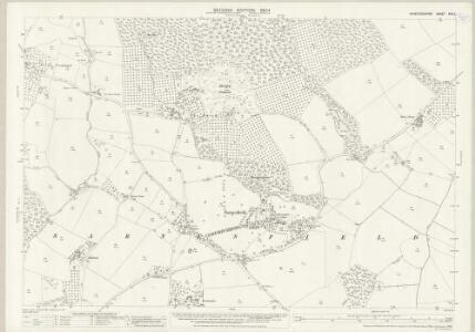 Herefordshire XXV.2 (includes: Almeley; Kinnersley; Norton Canon; Sarnesfield; Weobley) - 25 Inch Map