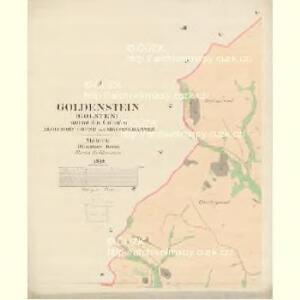 Goldenstein (Golsten) - m0204-2-004 - Kaiserpflichtexemplar der Landkarten des stabilen Katasters