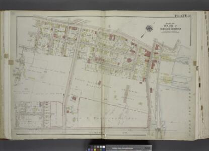 Part of Ward 2. [Map bound by Broad St, Bay St,       Thompson St, Front St, Dock St, Vanderbilt Ave, Pleasant PL, Coursen PL, Dix PL  (Elm), Hill St, Fulton St, Meadow St, Patten St]