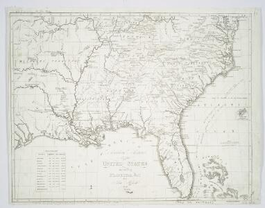 Southern section of the United States, including Florida &c. / by John Melish, 1816.