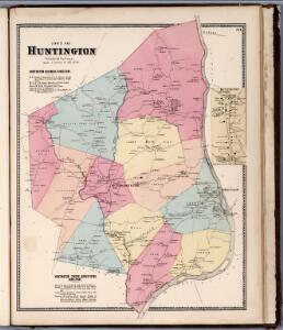 Town of Huntington, Fairfield County, Connecticut.  (inset) Huntington Centre.