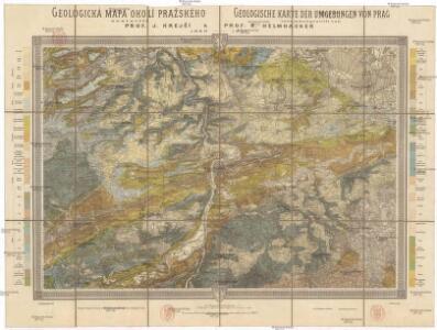 Geologická mapa okolí pražského
