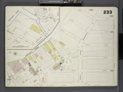 Brooklyn, V. 9, Double Page Plate No. 233 [Map bounded by New Town Creek, Nassau Ave., Sutton St., Vail St.]