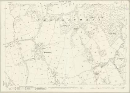 Sussex XLIV.9 (includes: Sedlescombe) - 25 Inch Map