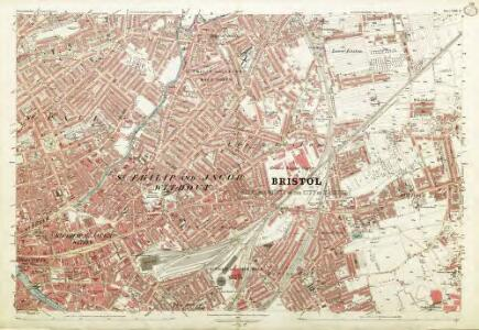 Gloucestershire LXXII.13 (includes: Bristol) - 25 Inch Map