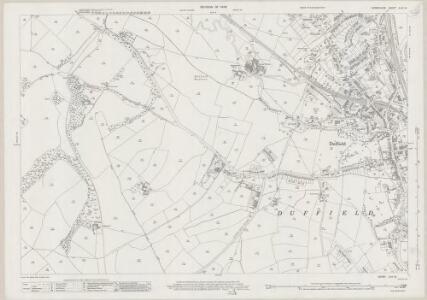 Derbyshire XLIV.12 (includes: Duffield; Milford; Weston Underwood; Windley) - 25 Inch Map
