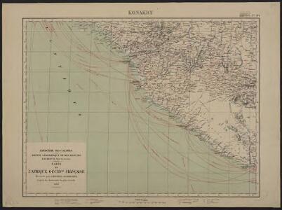 Carte de l'Afrique occidentale française. Konakry