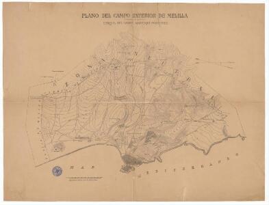 Plano del campo exterior de Melilla : croquis del campo marroquí fronterizo