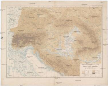 Höhenschichten-Karte von Österreich-Ungarn