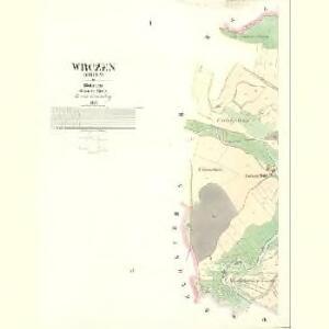 Wrczen (Wrčen) - c8843-1-001 - Kaiserpflichtexemplar der Landkarten des stabilen Katasters