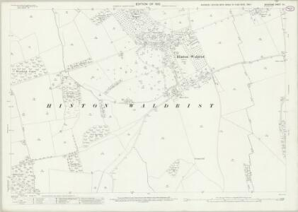Berkshire IX.1 (includes: Buckland; Hinton Waldrist; Longworth; Pusey) - 25 Inch Map