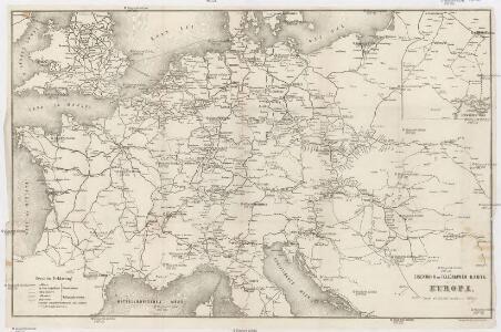 Eisenbahn und Telegraphen-Karte von Europa