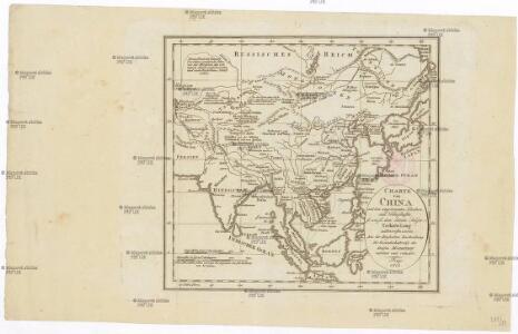 Charte von China und den angränzenden Ländern, und Völkerschaften so wie sie dem letzten Kaiser Tschien-Long unterworfen waren
