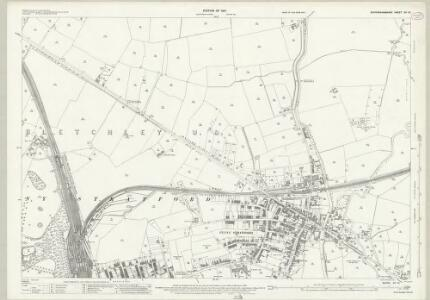 Buckinghamshire XV.10 (includes: Bletchley) - 25 Inch Map
