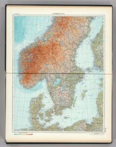 55-56.  Scandanavia, South.  The World Atlas.
