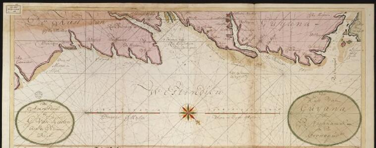 De kust van Guijana tussen R. Cupanama en Rio Oronoque