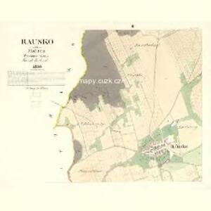 Rausko - m2608-1-002 - Kaiserpflichtexemplar der Landkarten des stabilen Katasters