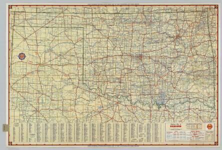 Shell Highway Map of Oklahoma.
