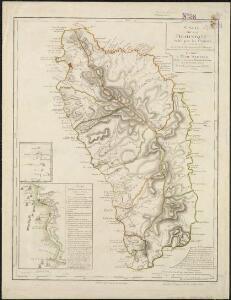 Carte de la Dominique prise par les françois le 7 septembre 1778, avec le Plan du débarquement, et de l'attague des forts et batteries par les troupes et les frégates de Sa Majesté
