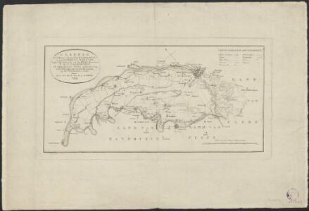 Caartje van het Land van tusschen Maas en Waal en van het Rijk van Nijmegen