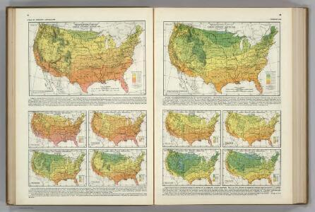 Monthly Temperature Maps:  November.  December.  Atlas of American Agriculture.