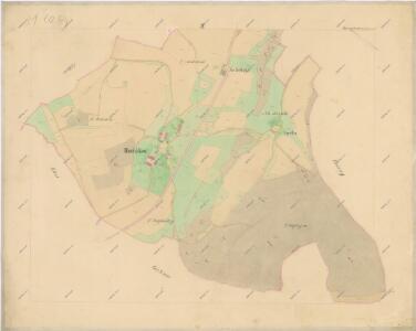 Katastrální mapa obce Hořákov WC-IX-VIII-27 ah dh