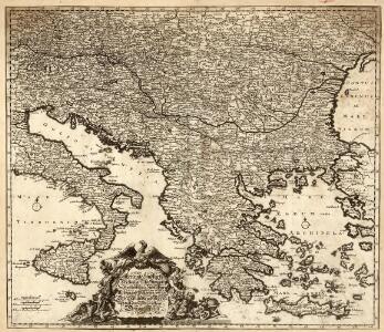 Accurate Landkarte Des Königreichs Hungarn des Fürstenthümer Siebenbürge; Moldau und Wallachey, wie auch Griechenlandes und Morea Samt dem Weltberüffnene Donau-Throm