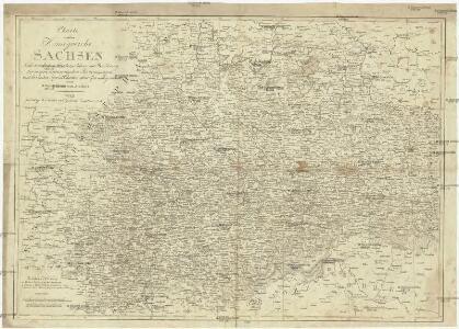 Charte von dem Königreich Sachsen