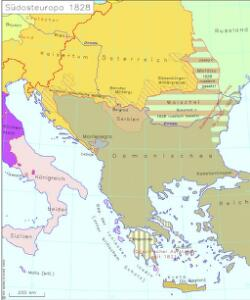 Südosteuropa 1828