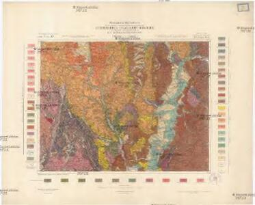 Geologische Spezialkarte der im Reichsrate vertretenen Königreiche und Länder der Österreichisch-Ungarischen Monarchie