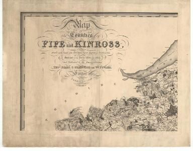 Map of the counties of Fife and Kinross.