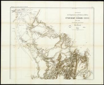 Surveys by Hauptmann von Prittwitz and Gaffron in the Utshungwe Mountains (Uhehe) 1897 and 1898. Constructed and drawn by Max Moisel. Sheet I