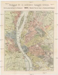 Budapest fö- és székváros legujabb térképe