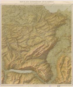 Karte der Churfirsten - Säntisgruppe
